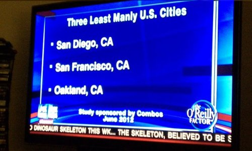 motherjones:  Bill O'Reilly thinks California is unmanly. via Kyle Berry