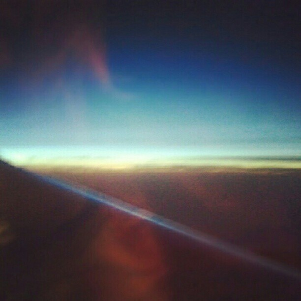 Sunrise and the horizon. Love this view.. #upintheair #travel #overthepacific #love #simplemoments (Taken with Instagram)