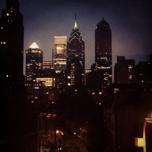 Philadelphia skyline at dusk. Taken June 21, 2012 in Philadelphia Comments