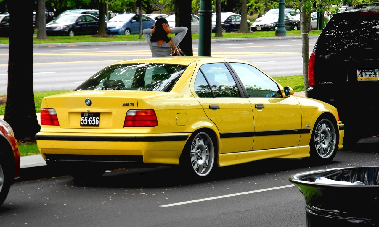 E36 in Yellow Philadelphia, PA April, 2012