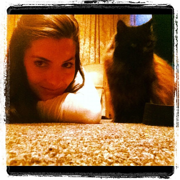 Me and #muffinman scheming on the floor. #stompandgroovestudios  (Taken with Instagram)