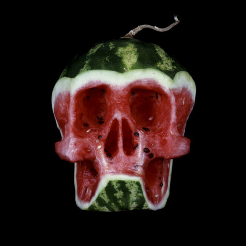 laughingsquid:  Fruit and Vegetable Skulls by Dimitri Tsykalov