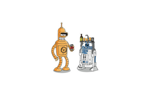 A 'mash up' like this.. These are the droids you're looking for Artist - Raid71 Available as a signed limited edition print from Art V Cancer