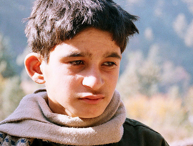 Kashmiri Boy Boy waits near Muzzaffarabad, Kashmir (Pakistan) for aid after October 8th, 2005 earthquake. Photograph public in Friday Times (Lahore)