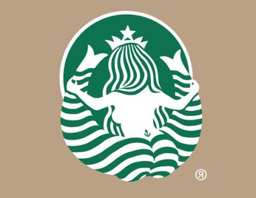 The reverse side of the Starbucks logo