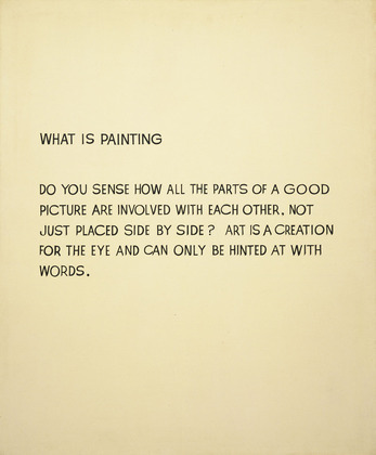 sfmoma:  John Baldessari, What Is Painting (1966-68.)