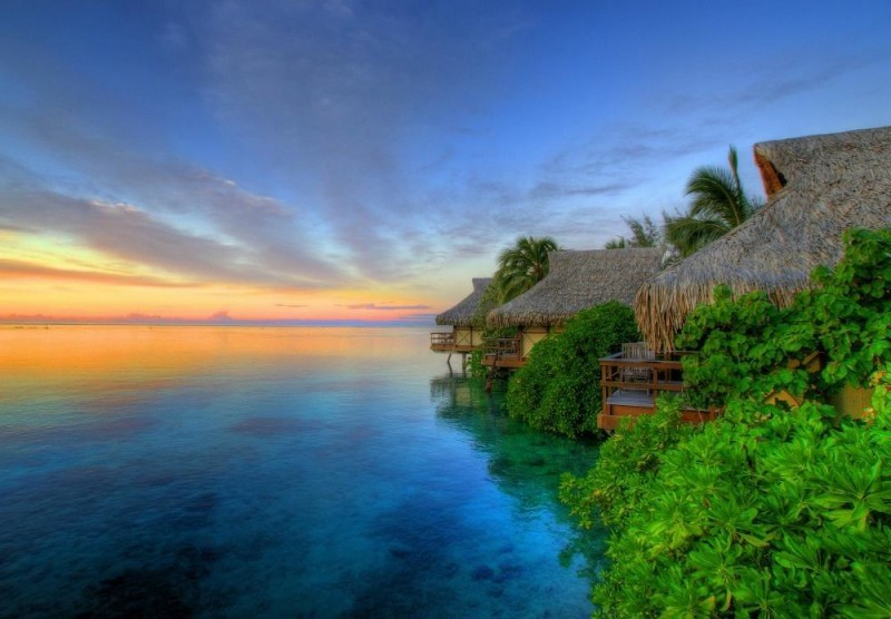 Dawn on Moorea Island @ French Polynesia