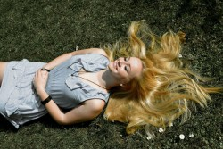 #blonde #outdoors #photography #grass #flowers