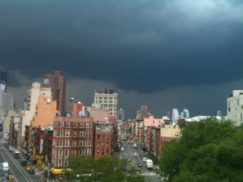Storm clouds over Lower Manhattan