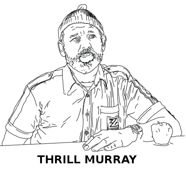 laughingsquid:  Thrill Murray, A Bill Murray Coloring Book