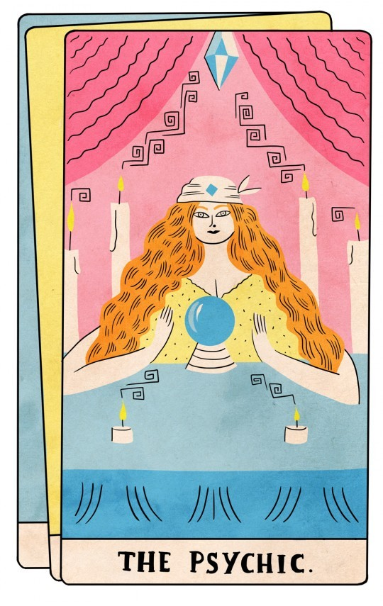 rookiemag:  Wheel of Fortune  Shopping around among psychics in L.A.     Last month I visted five psychics and it was awesome.