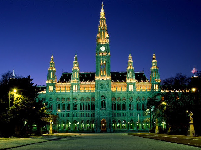 The Rathaus in Vienna, Austria