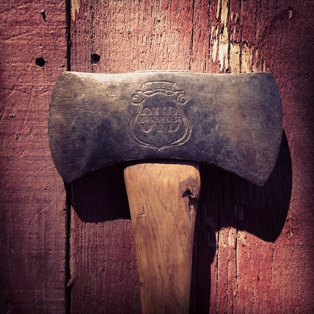 aldrtree:  Just got this awesome vintage OVB axe in the mail. #axe (Taken with Instagram) Follow us on Instagram @ALDRTREE