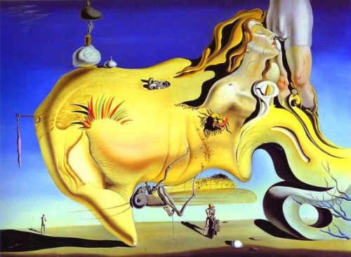 artexpertsinc:  The Great Masturbator, 1929, Oil on Panel; by Salvador Dali