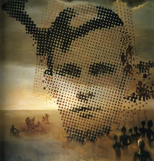 Portrait of Dead Brother, 1963; by Salvador Dali