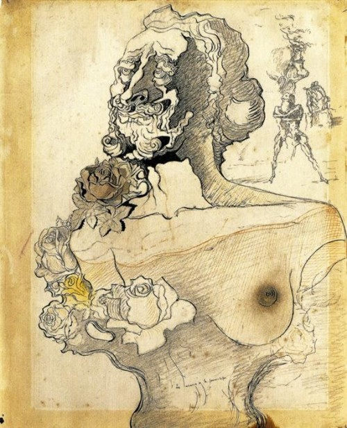 Study for Memory of the Child Woman, 1932; by Salvador Dali