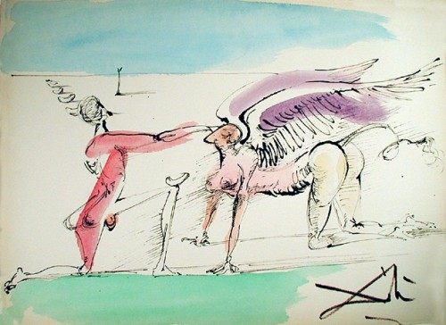 The Winged Dragon, 1966; by Salvador Dali