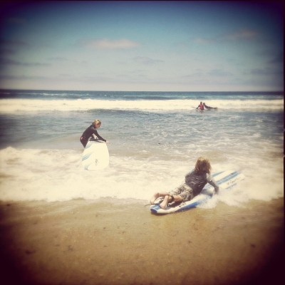 Kids at the beach. #lajollashores #beach #sandiego #california  (Taken with Instagram)