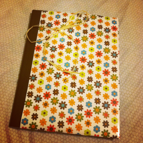 The journal I made! I'm so excited to start journaling more. :)