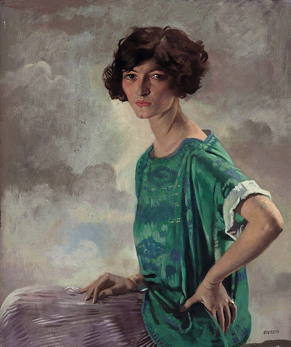 kittyinva:  classic-art:  Portrait of Gertrude Sanford William Orpen  Kittyinva: I'd guess at a date around 1923-24   Sassitude.