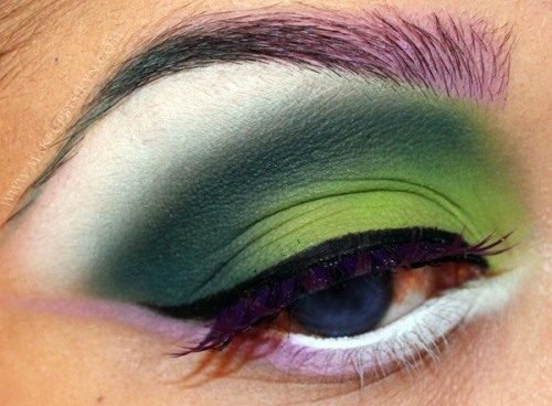 beautylish:  A gorgeous use of Illamasqua eye shadows by Dawn B.!