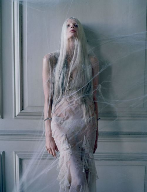 "deauthier:  Kristen McMenamy in ""The Origin of Monsters"" by Tim Walker for LOVE Magazine."
