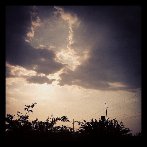 I love sun showers. (Taken with Instagram at Starbucks)