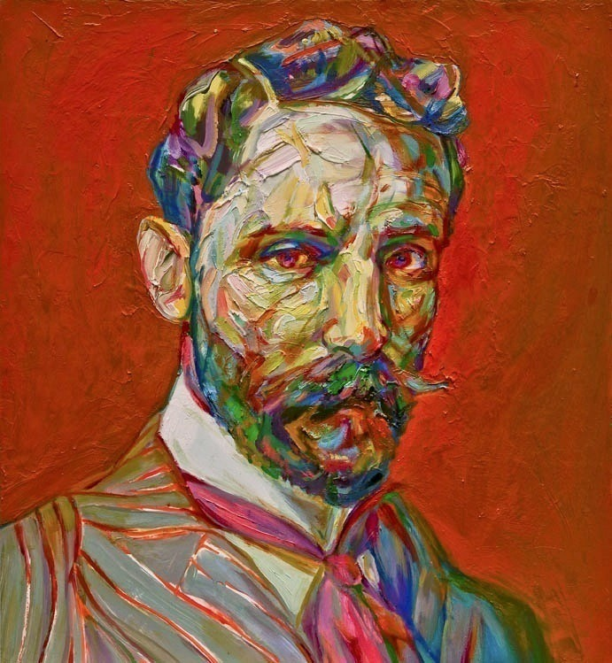 "mucksnipe:  Aaron Smith ""Kicker (Roger Casement)"" , 2012, oil on panel, 24"" x 22"""