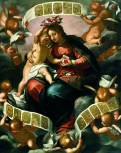 necspenecmetu:  Giovanni Battista Paggi, Madonna of the Rosary, late 16th century