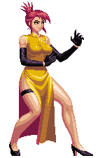 pembrokewkorgi:  Okay, I accidentally stumbled upon a sprite of this character on google, and I got to know, who is this character and what game is she from?! If anyone knows, please tell me.  Marilyn Sue, a Mugen character. http://mugen.the-chronicles.org/forums/showthread.php?t=366