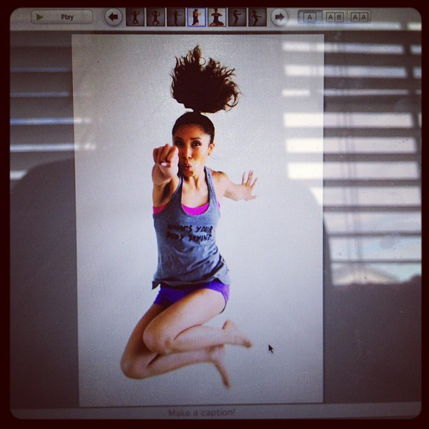 I punch u!!!!! (my hair looks like an atomic bomb explosion) #jumpingpics (Taken with Instagram)