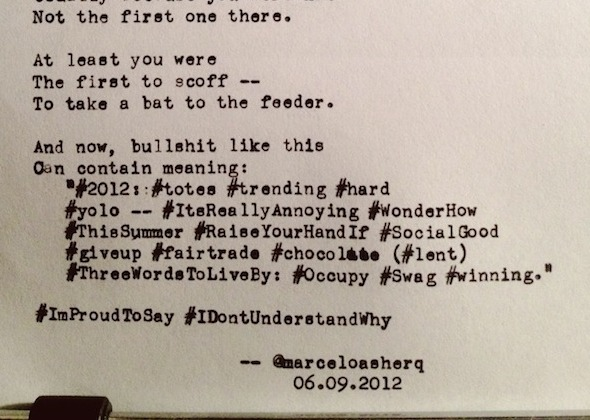 Can you write a poem made of hashtags and Twitter trends? SoulPancake wants you to take the challenge.