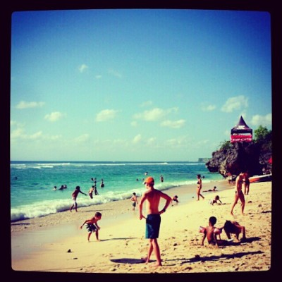 Padang padang beach, Bali (Taken with Instagram)
