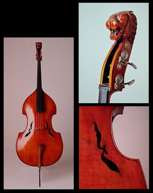 swissjazz:  Der Fledermaus Bass Built by Lajos Kovacs 1943 for the double bass virtuoso Lajos Montag