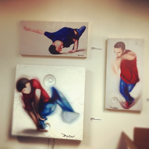 Prints at Bboy factory - #bboy # breakdance # instadope # instagood #instaswag paintings (Taken with Instagram)