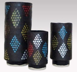 "Stoneware ""Diamond Grid"" Collection"