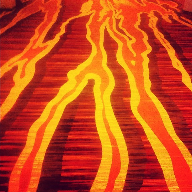 174 - twisted lava scape #red #orange #flame #bold #photoaday  (Taken with Instagram)