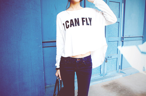 iweheartit:  Fashion,Fly,Girl,I can fly,Style,Text,