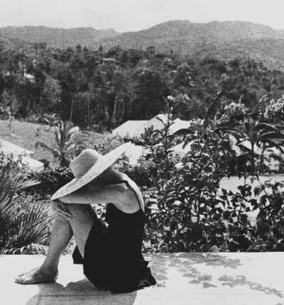Grace Kelly photographed by Howell Conant in Jamaica, 1955