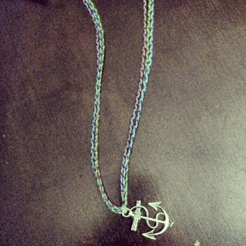 Another necklace I made  #art #jewelry #anchor #sea #necklace #fashion (Taken with Instagram)