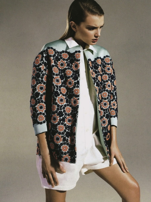 moldavia:  Lily Donaldson in Vogue Russia July 2012 by Richard Burbridge