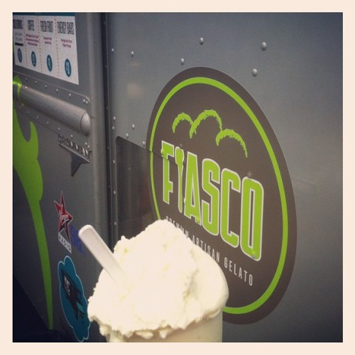 Wading in puddles @sledisland w @yycfoodtrucks' @fiascogelato, @dt_clelland, @hotway. Pre @feistmusic #yycfood #yycmusic (Taken with Instagram)