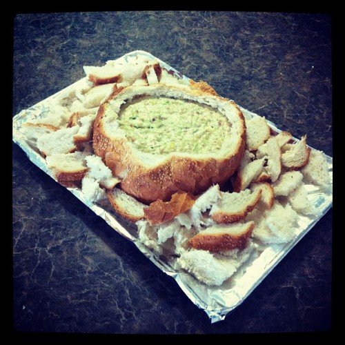 Cob loaf about to go in the oven (Taken with Instagram)