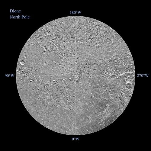 fuckyeahcassini:  Map of Dione's north pole - December 2011