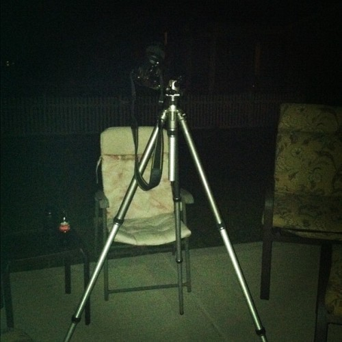 My super set up! Photographing the night sky!! #photography (Taken with Instagram)
