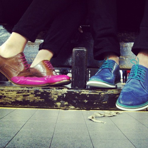 thedapperanddandy:  His & Hers Cole Haan  okay, but I would own and rock the shit out of both of these pairs of shoes.