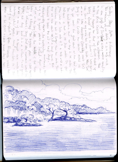 On the Killarney Lakes- from my Ireland sketchbook