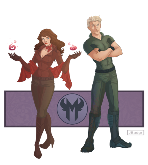 Avengers: Scarlet Witch and Quicksilver, by JBadgr