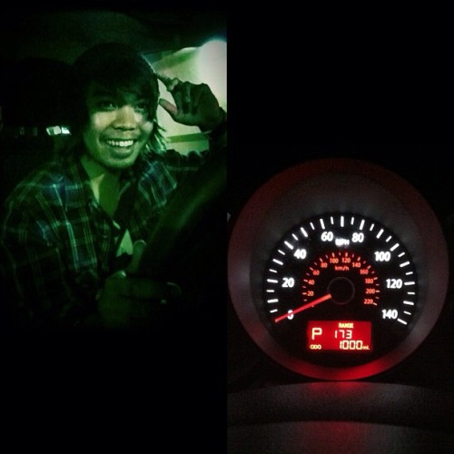 Night time driving. Broke my first thousand miles :) (Taken with Instagram)