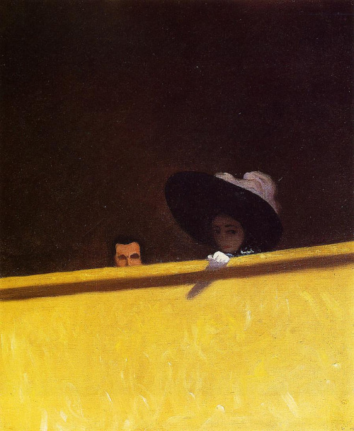 (via martin klasch: Box Seats)  The Athenaeum: Felix Vallotton (1909): Box Seats at the Theater, the Gentleman and the Lady